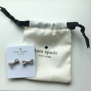 kate spade Jewelry - Kate Spade Tied Up Bow Earrings